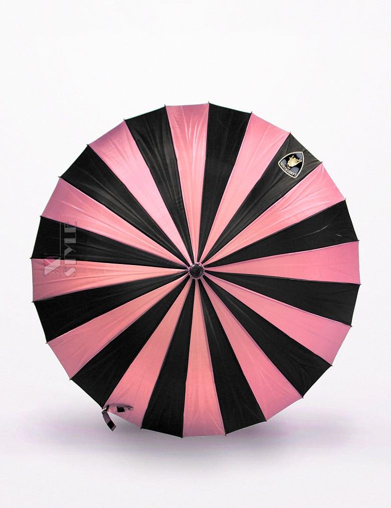 Зонт-трость 24 спицы (фуксия/черный), 3
