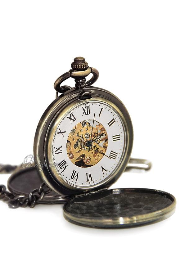 Двусторонние часы Стимпанк, 5