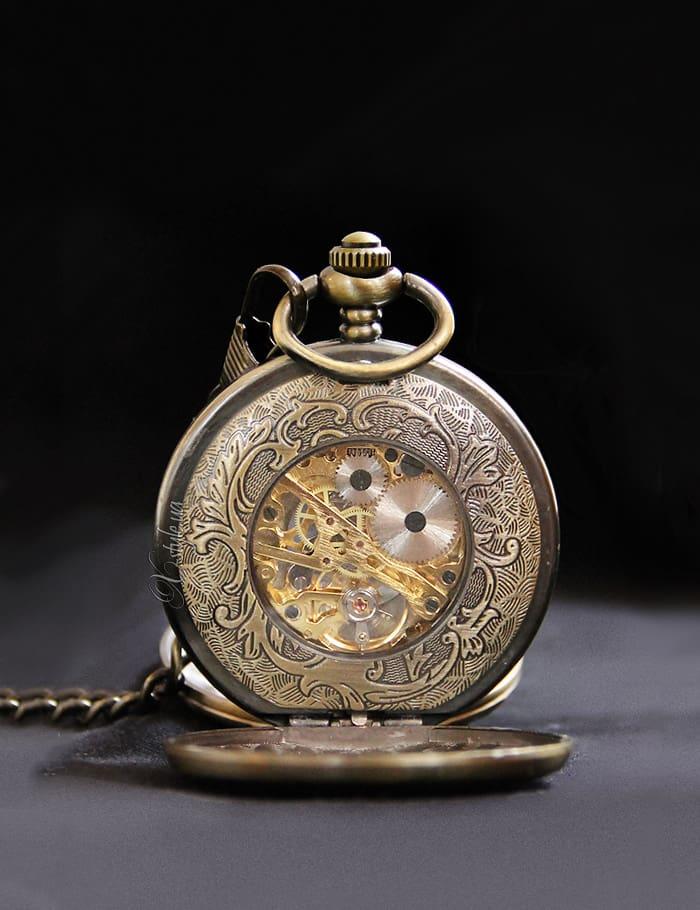 Двусторонние часы в стиле Стимпанк, 7