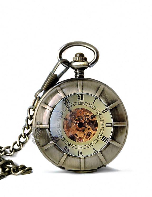 Двусторонние часы в стиле Стимпанк, 3
