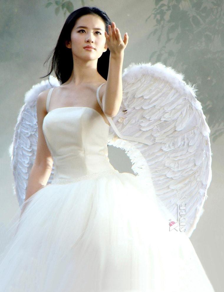 Белые крылья ангела (100 см) L033