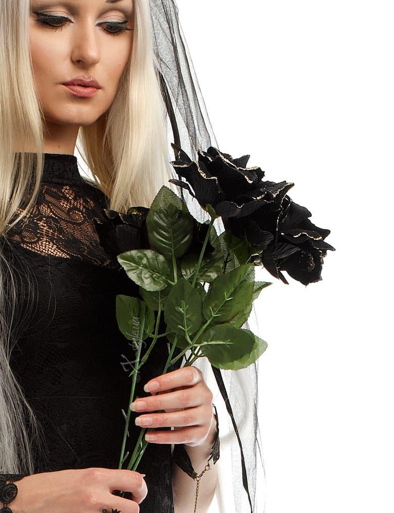 Черная роза (51 см), 3