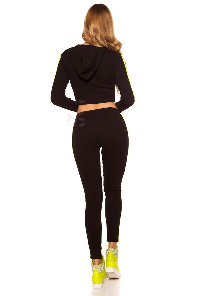 Костюм Workout женский (черный/неоновый желтый), 3