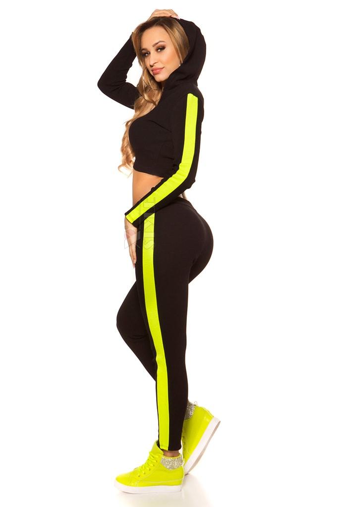 Костюм Workout женский (черный/неоновый желтый), 7