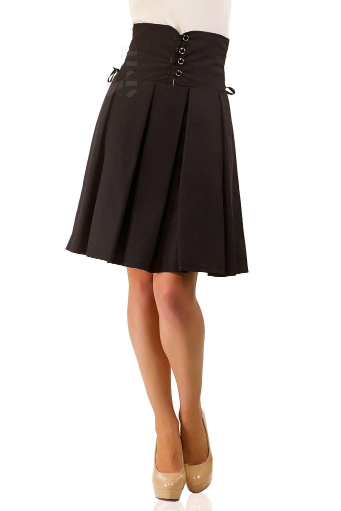 Плиссированная юбка с высокой талией X-Style, 3