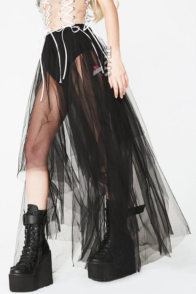 Длинная асимметричная юбка-пачка