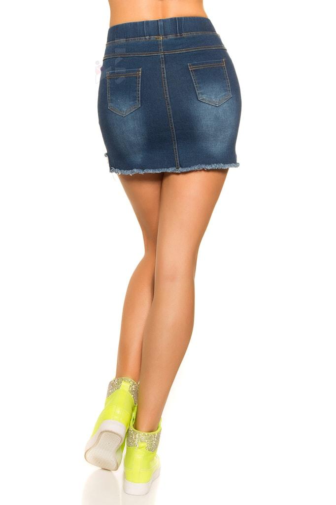 Короткая джинсовая юбка MF7172, 9