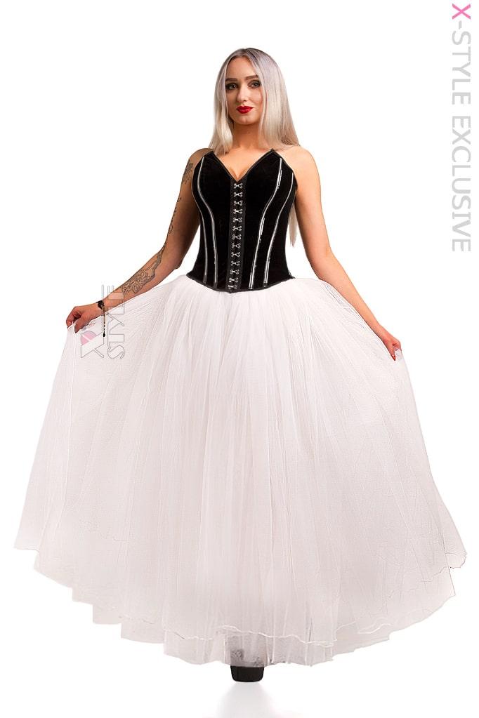 Длинная белая юбка пачка X-Style