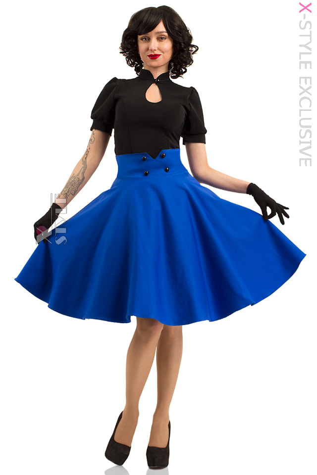 Юбка в стиле 50-х (синий электрик), 7
