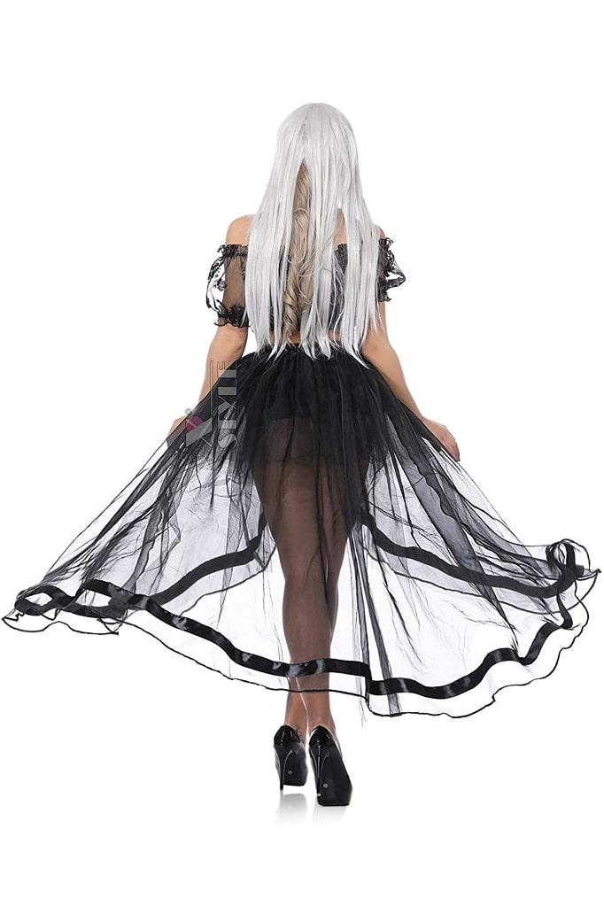 Прозрачная юбка со шлейфом CC7163, 9