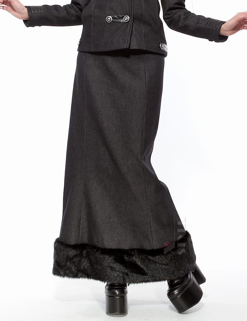 Длинная юбка с мехом, 7