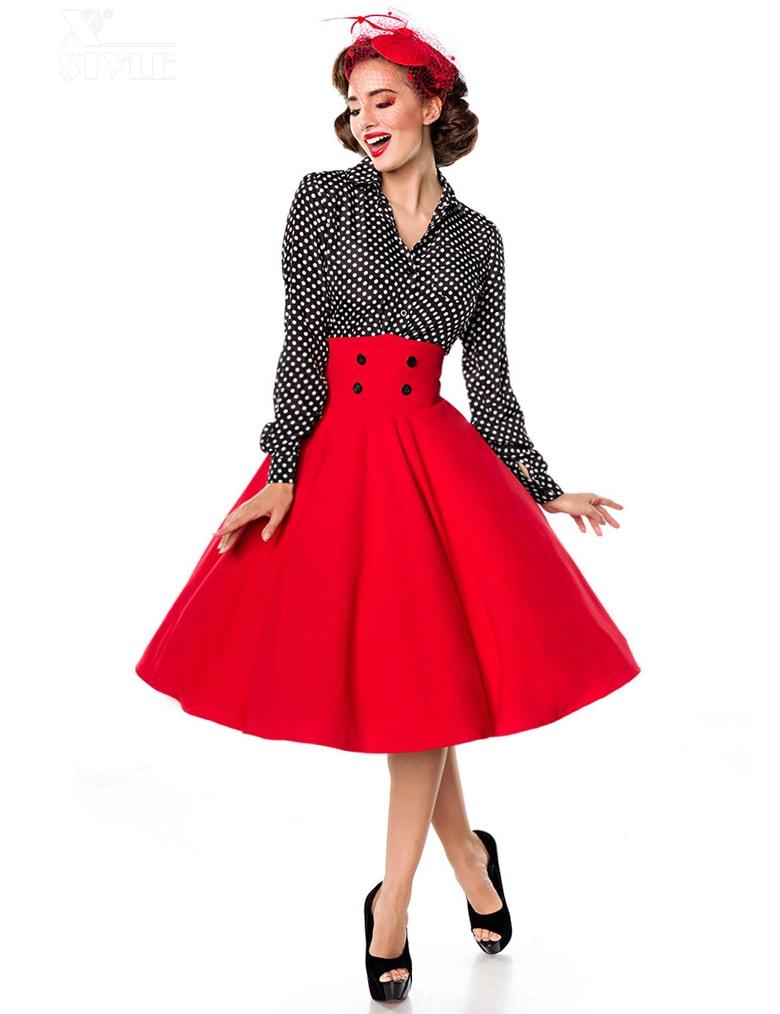 Красная юбка в стиле Ретро, 5