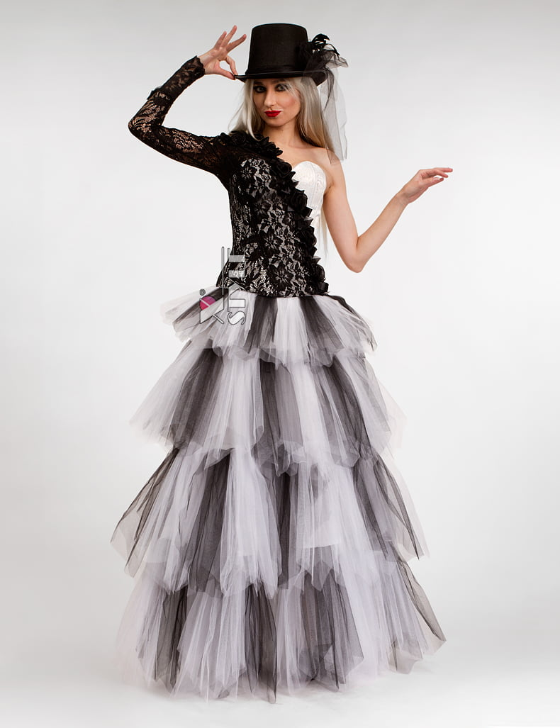 Длинная многослойная пышная юбка X-Style, 5