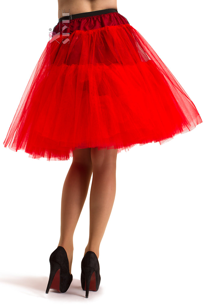 Красный пышный подъюбник X-Style, 3