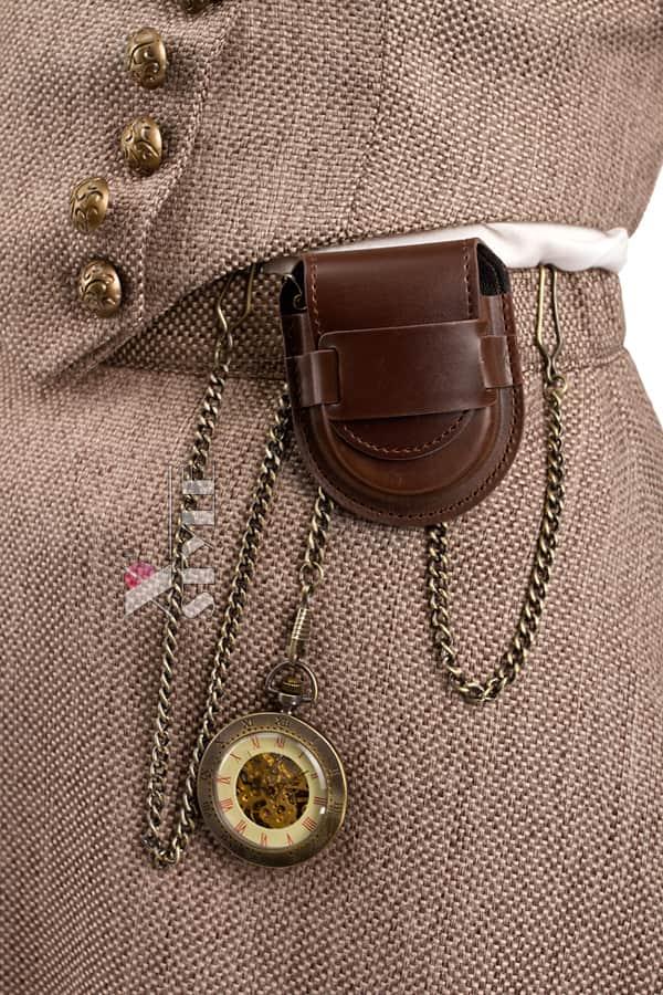 Костюм Стимпанк (жилетка, юбка, шляпа, очки, чехол с часами), 7