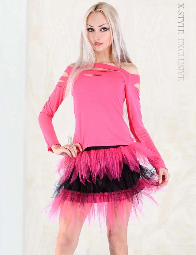 Двухцветная юбка-пачка, 7