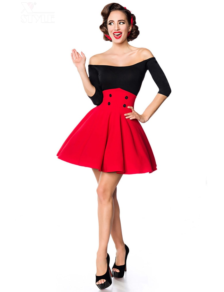 Красная юбка клеш Belsira, 9