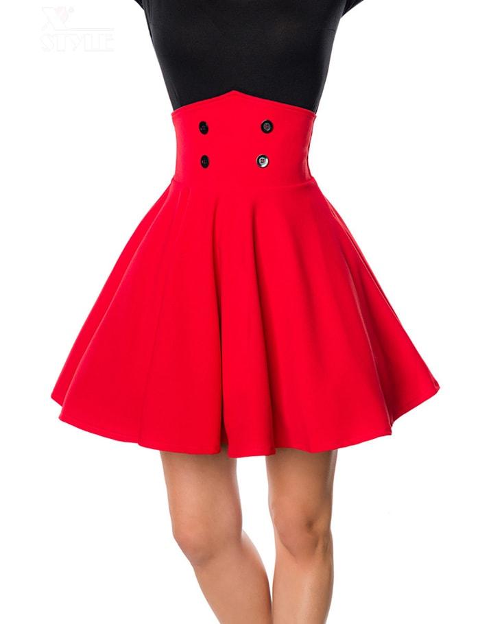 Красная юбка клеш Belsira, 5