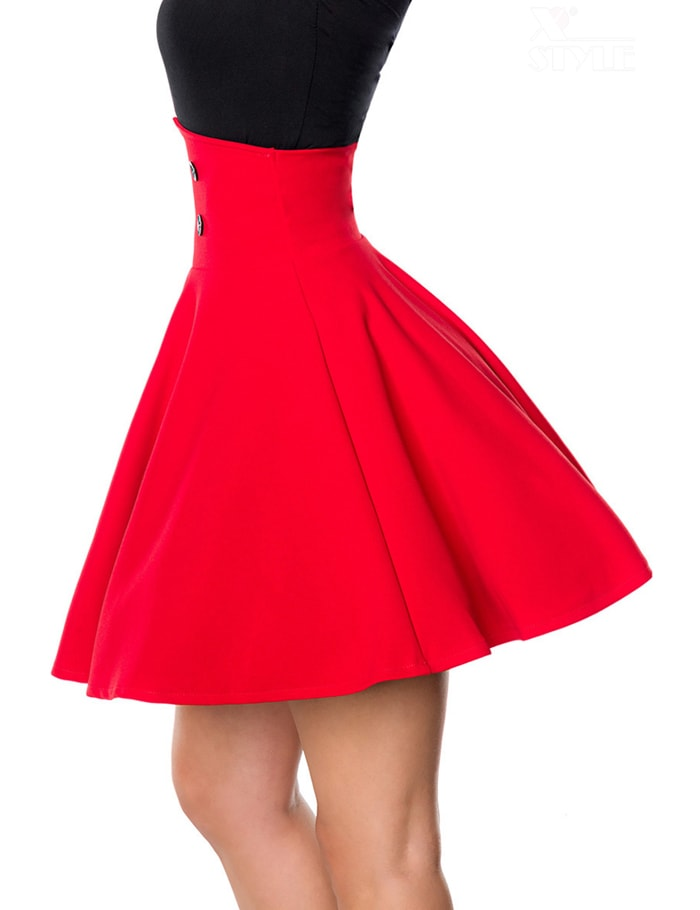 Красная юбка клеш Belsira, 7