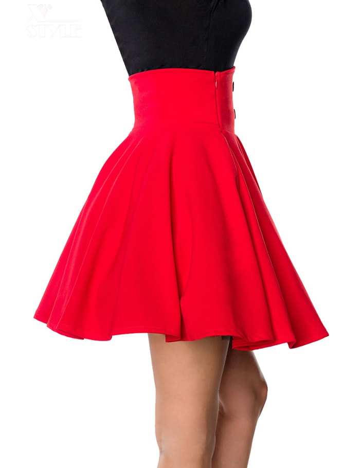 Красная юбка клеш Belsira, 3